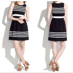 Madewell Black White Saltwater Stripe Dress XS